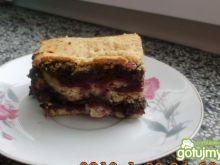Ciasto z makiem i wiśniowym dżemem