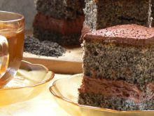 Ciasto z makiem z bitą śmietaną