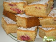 Ciasto z malinami i poziomkami