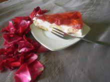 Ciasto z malinami na zimno bez pieczenia