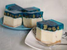 Ciasto z manna i borówkami