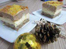 Ciasto z masą budyniową i czekoladową