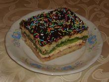 Ciasto z masą budyniowo- kokosową