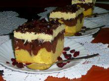 Ciasto z masą grysikową i żurawiną