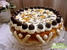 Ciasto z masą herbaciano-mandarynkową