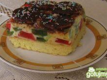 Ciasto z masą i galaretką