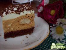 Ciasto z masą krówkową i kawą