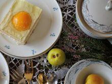 Ciasto z masą orzechową i galaretką