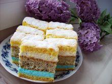 Ciasto z masą pomarańczowa i niebieską