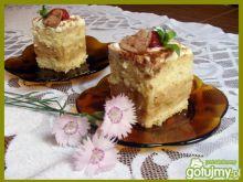 Ciasto z masą rabarbarową