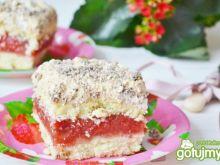 Ciasto z masą truskawkową