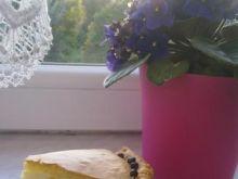 Ciasto z masą waniliową i jagodami
