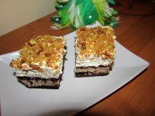 Ciasto z masą z cukierków chałwowych
