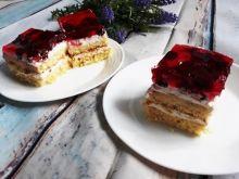 Ciasto z mascarpone i wiśniami