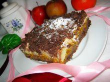 Ciasto z musem dyniowym i jabłkiem