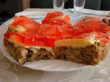 Ciasto z orzechami i ananasem