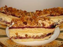 Ciasto z orzechami i kremem karpatkowym