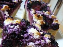 Ciasto z rabarbarem i borówkami.
