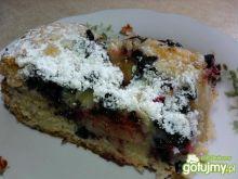 Ciasto z rabarbarem i jagodami