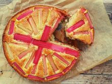 Ciasto z rabarbarem i kokosem