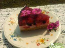 Ciasto z rabarbarem i owocami