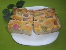 Ciasto z rabarbarem na kefirze