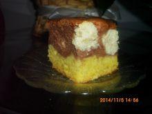 Ciasto z serowymi oczkami
