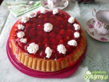 Ciasto z truskawkami.