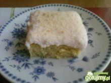 Ciasto z truskawkami i masą budyniową