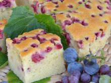 Ciasto z winogronami i z winem