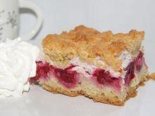 Ciasto z wiśniami i malinami