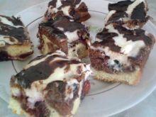 Ciasto ze śliwkami i budyniem