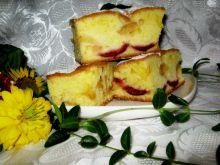 Ciasto ze śliwkami i jabłkiem