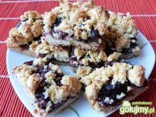 Ciasto ze śliwkami i kokosową kruszonką
