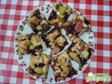 Ciasto ze śliwkami i rabarbarem