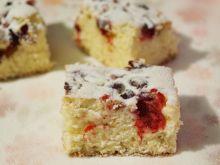 Ciasto ze świeżą żurawiną