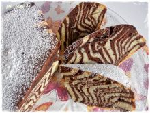 """Ciasto """"Zebra"""" na białej oranżadzie"""