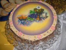 Ciasto(tort) z kremem chałwowym