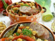 Ciecierzyca z chili i podgrzybkami w zupie