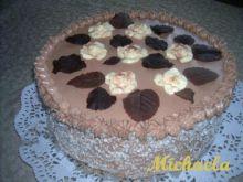 Ciemny tort z płytą kokosową