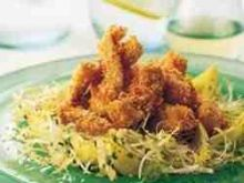 Ciepla salatka z kurczaka w sezamie