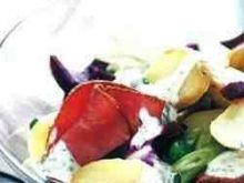 Cieple ziemniaczki, buraczki i pastrami