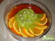Creme Caramel z owocami