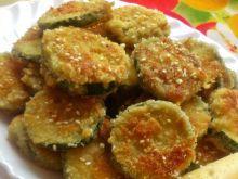 Cukinia w panierce serowo-sezamowej