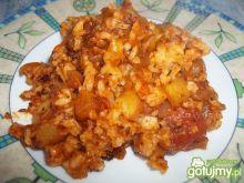 Cukinia z ryżem w pomidorach