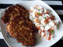 Cukiniowe placuszki z ryżem z warzywami