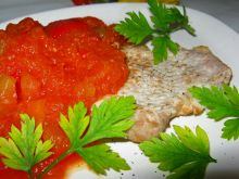 Cukiniowy sos ze schabem