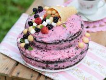 Cukiniowy torcik z owocowo-śmietankowym kremem