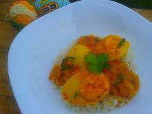 Curry jajeczne z mlekiem kokosowym
