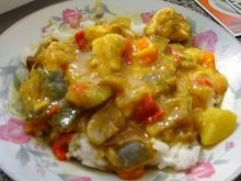 Curry z białym ryżem